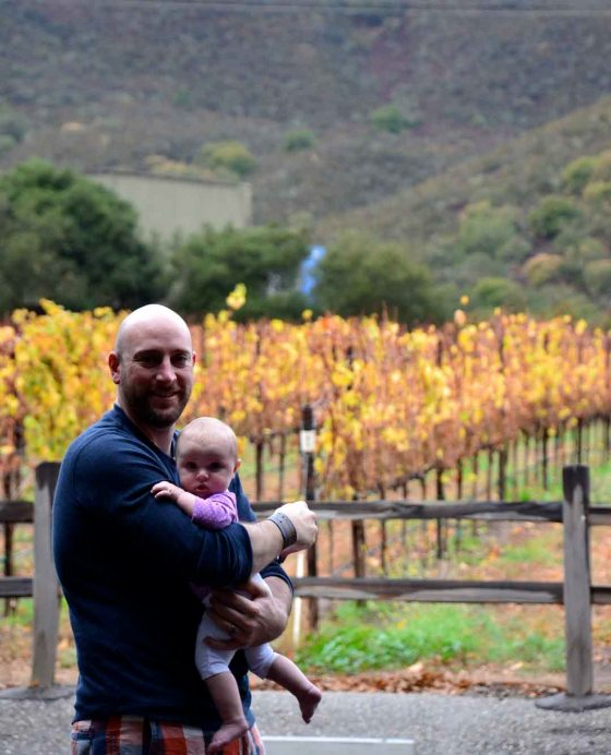 First trip to wine country. You'll enjoy it more when you're older, but you sure did charm all the tipsy wine tasters.
