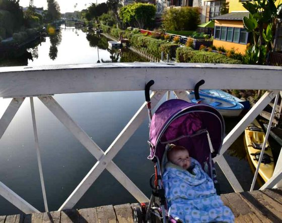 Cozy in your stroller as we saunter through the Venice Canals